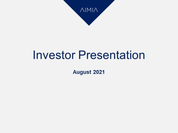 AIMIA investor presentation cover